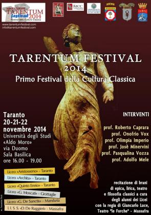 """""""Tarentum Festival"""" 2014 il 1° Festival della Cultura Classica"""