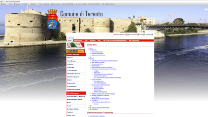 Riappare online il sito del Comune di Taranto , ma qualcosa non quadra….