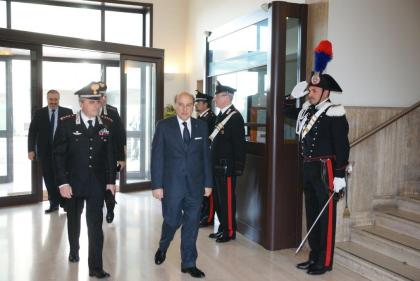 Visita del Prefetto di Taranto al Comando Provinciale Carabinieri