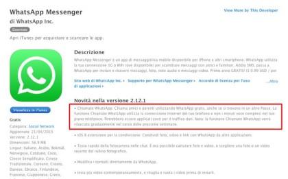 WhatsApp, anche su iPhone si può disattivare la doppia spunta blu ed effettuare chiamate