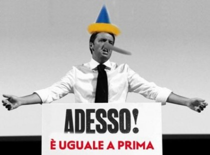 """Arsenale in crisi, Renzi come Pinocchio""."
