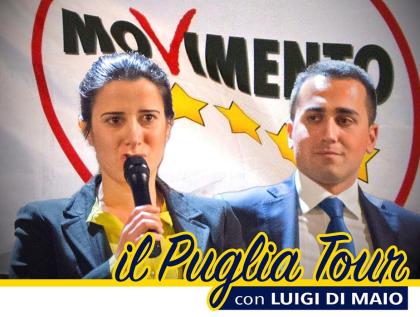 Tour pentastellato a Foggia, Bari, Taranto e Lecce per  iniziative di sostegno alle imprese di Puglia
