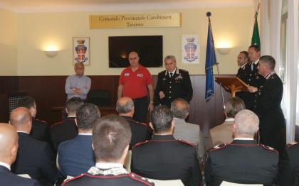 Consegna ricompense ai Carabinieri del Comando Provinciale di Taranto distintisi in operazioni di serviizo