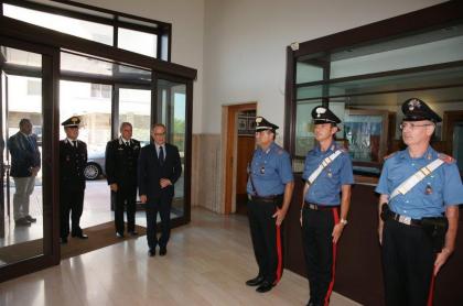 Il commiato del Questore Mangini al Comando  Provinciale dei Carabinieri.