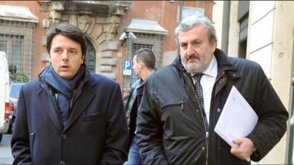 nella foto, Renzi ed Emiliano