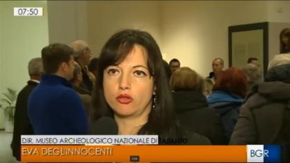 Il Marta di Taranto al Tgr della RAI