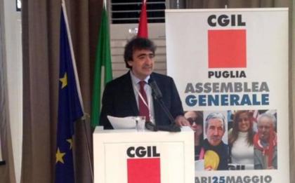 Cgil: Pino Gesmundo nuovo segretario generale CGIL Puglia