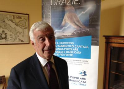 E' morto Stacca, presidente della Banca Popolare di Puglia e Basilicata