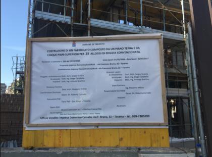 """Incidente sul lavoro in un cantiere edile a Taranto. Un operaio di 42 anni è """"volato"""" da una palazzina in costruzione al suolo"""