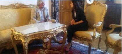 Virginia Raggi e Beppe Grillo