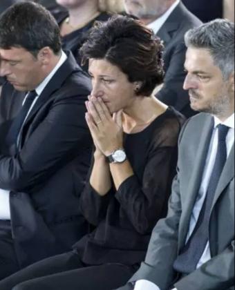 CdG Renzi_moglie funerale