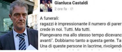 """Terremoto. Gianluca Castaldi (M5S) scrive un commento sui funerali e viene ricoperto di critiche. Poi lo rimuove e si """"nasconde"""" su Facebook."""