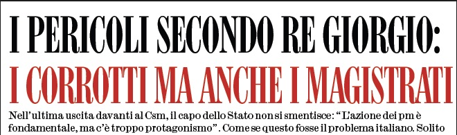 Una vecchia (attuale) dichiarazione del Presidente Napolitano