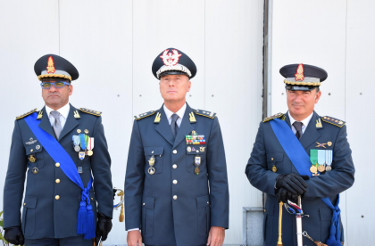 Cambio al Comando del Reparto Aeronavale della Guardia di Finanza a Bari