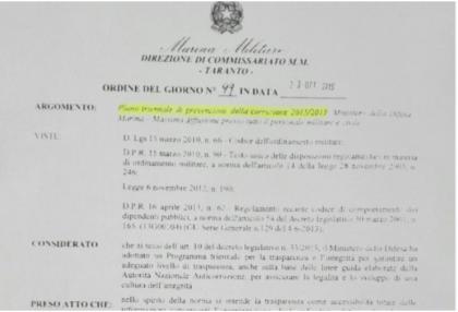 """ESCLUSIVO ! Il capitano di vascello Di Guardo ordinava """"massima trasparenza"""" e conferenze sull'integrità. Nel frattempo intascava le tangenti"""
