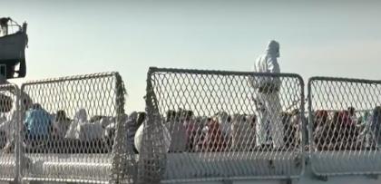 CdG sbarco migranti taranto