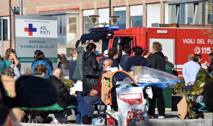 CdG evacuazione ospedale rieti