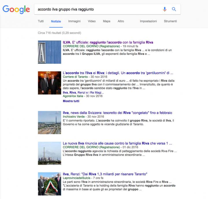 CdG google ilva