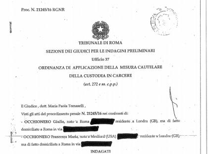 Ecco l'ordinanza integrale sull'inchiesta Cyberspionaggio