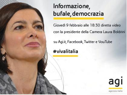 DIRETTA LIVE  #BastaBufale, l'appello di Laura Boldrini per una informazione corretta