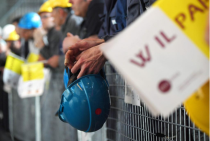 Papa Francesco in visita ai lavoratori Ilva