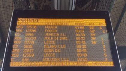 Nuovo incidente ferroviario mortale in Puglia. Un treno travolge anziano a Barletta