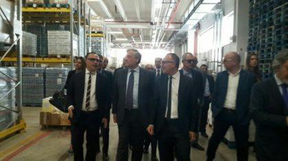 Il presidente del Parlamento europeo Tajani visita la Ladisa di Bari