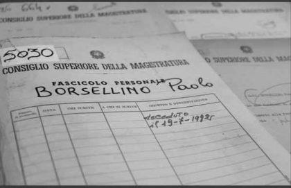 Verso i 25 anni dalla strage di via D'Amelio. Il Csm celebra Paolo Borsellino