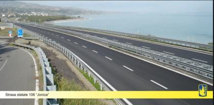 """Calabria. Ok del Cipe alla prima tratta del 3° Megalotto della nuova strada statale 106 """"Jonica"""""""