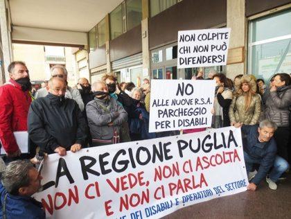 Sanità. La protesta dei disabili in Puglia