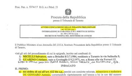 Per la Procura di Taranto il diffamatore-stalker Salvatore Micelli va processato