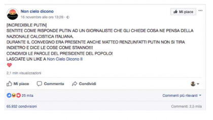 Fake news, M5S: giochino New York Times e Buzzfeed apparecchiato da Renzi