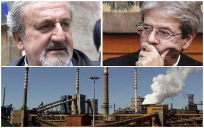 """Ilva: appello del premier Gentiloni: """"Invito Emiliano-Melucci a ritirare ricorsi , a rischio interventi su Taranto"""""""
