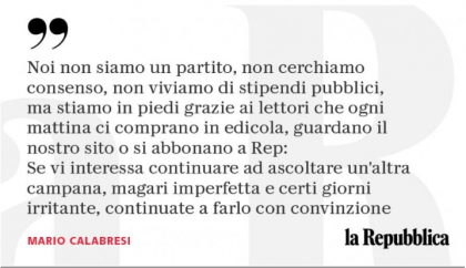 """Calabresi, direttore di Repubblica: """"Caro Di Maio, non abbiamo paura: continueremo a raccontare la verità"""""""