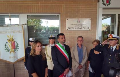 """Cerimonia a Bari per ricordare Marzulli il """"capo"""" della Polizia municipale"""