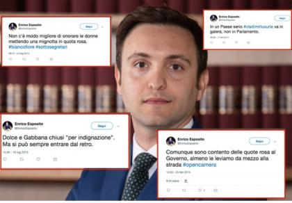 """I tweet sessisti e omofobi dell'amico di Luigi Di Maio """"piazzato"""" nel suo staff al ministero"""