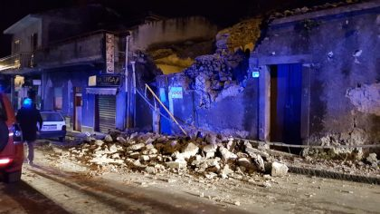 Etna: terremoto di magnitudo 4.8 nella notte, crolli e feriti