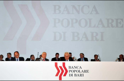 Popolare di Bari, assemblea dei soci. Fusioni e governance sotto il giudizio dei soci