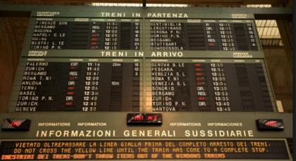 RFI, Puglia e Basilicata: al via un nuovo sistema di informazione nelle stazioni per i viaggiatori