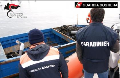 """Carabinieri e Guardia Costiera di Taranto denunciano 6 persone per produzione, detenzione e commercializzazione di """"cozze nere"""" in cattivo stato di conservazione"""