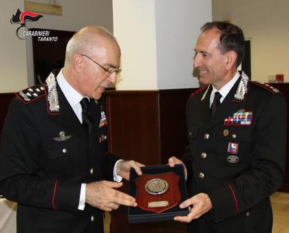 Il Comandante Generale dell'Arma dei Carabinieri Generale Nistri in  visita al Comando Provinciale di Taranto.