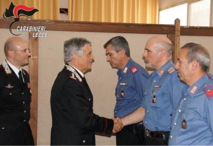 Il Generale Vittorio Tomasone in visita al Comando Provinciale dei Carabinieri di Lecce