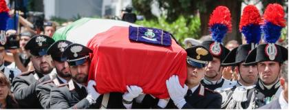 L 'ultimo saluto di Somma Vesuviana a  Mario Cerciello Rega il carabiniere ucciso a Roma