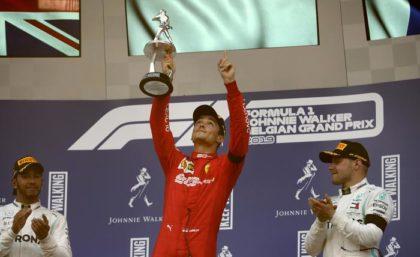 F1: prima vittoria Ferrari del 201. Leclerc sul podio in Belgio