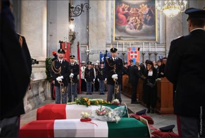 Funerali di Stato a Trieste per gli agenti della Polizia Matteo Demenego e Pierluigi Rotta. L'ultimo saluto alla Volante 2
