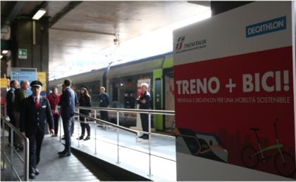 Trenitalia e Decathlon partner green per la mobilità
