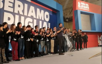 """Salvini: """"Dobbiamo cacciare la sinistra: da Ilva alla Popolare di Bari ha fatto disastri"""""""