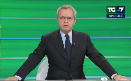 """Mentana bacchetta il premier: """"Se l'avessimo saputo, non avremmo mandato in onda quella parte della conferenza stampa"""""""