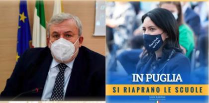 """La ministra Azzolina contro Emiliano per le scuole chiuse in Puglia: """"Pochi contagi, riapra subito: problema è sanità regionale"""""""