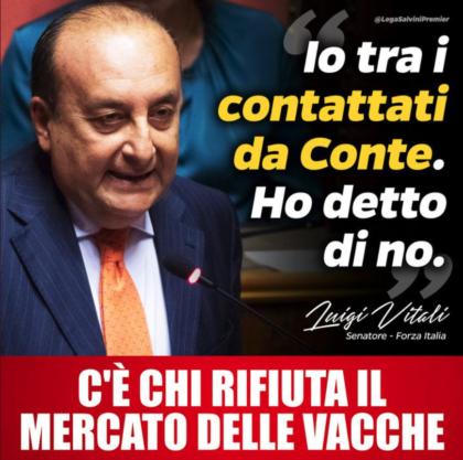 """IL """"TRASFORMISTA"""" LUIGI VITALI DA FORZA ITALIA AL PREMIER CONTE, PASSANDO PER LA LEGA…"""